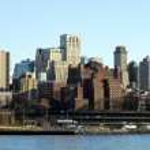 Downtown Brooklyn skyline in NYC — Stock Photo