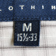 Stock Photo: Close up view of clothing label