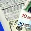 Stock Photo: Check foreign exchange rates