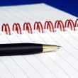 The spiral note pad with a pen — Stock Photo #2021264