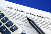 File the mortgage application — Stock Photo