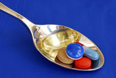 A spoonful of medicine — Stock Photo