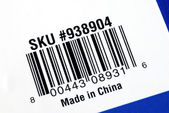 Bar code of the product made in China — Stock Photo