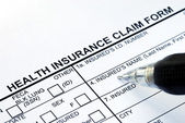 File the health insurance claim form — Stock Photo
