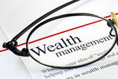 Focus on wealth management — Foto Stock