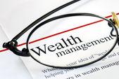 Fokusera på förmögenhetsförvaltning — Stockfoto