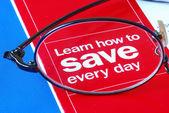 Focus on learning how to save money — Stock Photo