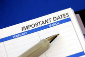 Write down some important dates — Stock Photo