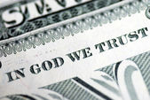 In God We Trust from the dollar bill — Стоковое фото