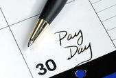 Today is the pay day of the month — Stock Photo
