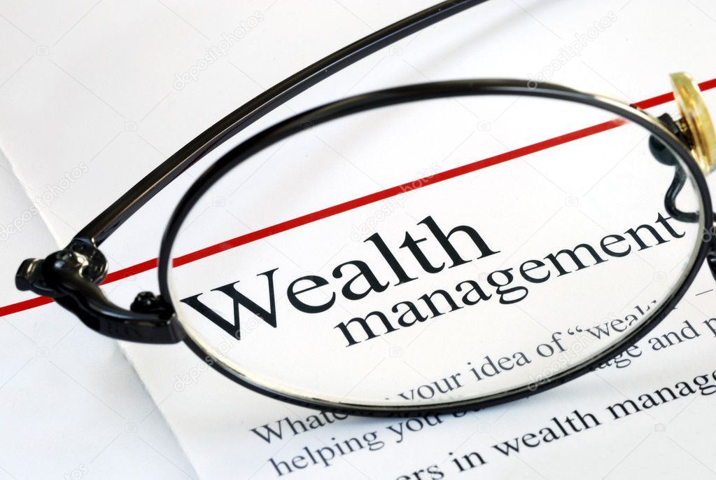 Focus on wealth management and money investing — Stock Photo #2020681