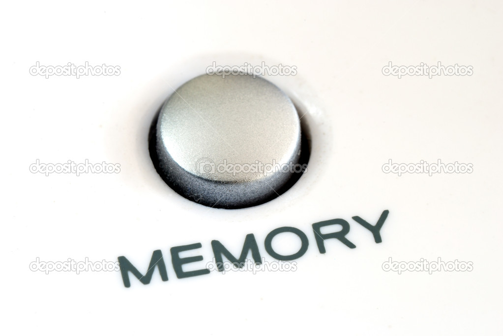 Close up view of the memory button also concept of memory problem — Stock Photo #2020823