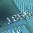 Stock Photo: Close up view of credit card