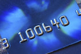 Close up view of a credit card — Stock Photo