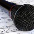 A black microphone — Stock Photo