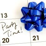 die Partyzeit im Kalender markieren — Stockfoto