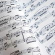 Viewing of two music sheets — Stock Photo