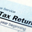 Close up view of the income tax return — Stock Photo #2303498