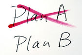 Change the idea from Plan A to Plan B — 图库照片