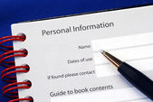 Fill in the personal information — Stock Photo