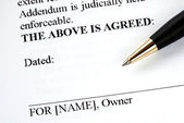 Sign your name here — Stock Photo