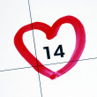 February 14th (Valentine's Day) - Stock Photo