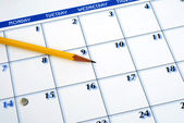 Planning the new month — Stock Photo