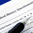 File the medical history questionnaire — Stock Photo