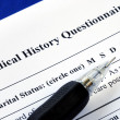 Stock Photo: File the medical history questionnaire