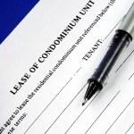 Lease of a condominium unit — Stock Photo