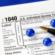 Stress in filing the income tax return — Stockfoto