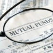 Stock Photo: Focus on mutual fund investing