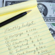 Stock Photo: Determine monthly budget