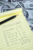 Determine the monthly budget — Stock Photo