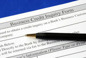 Complete the credit inquiry form — Stock Photo