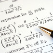 Stock Photo: Try to solve some mathematics questions