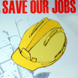 Save our jobs in this recession economy — Stock Photo