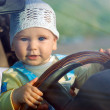 Baby & car - Stock Photo