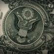 Stock Photo: Grunge US Dollar Detail
