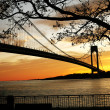 Beautiful Sunset on the bridge — Stock Photo
