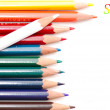 Colored pencils isolated on white — Stock Photo #2024515