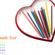 Colored pencils isolated on white — Stock fotografie