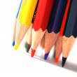 Colored pencils isolated on white — Stock Photo #2024796