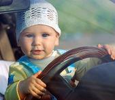 Baby & car — Stock Photo