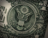 Grunge US Dollar Detail — Stock Photo