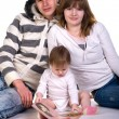 Beautiful young family — Stock Photo #2049209
