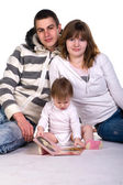 Beautiful young family — Stock Photo