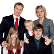 Merry big family portrait — Stock Photo