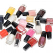 Stock Photo: Colour varnish for nail