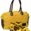 Yellow lady bag and yellow sandals — Stock Photo